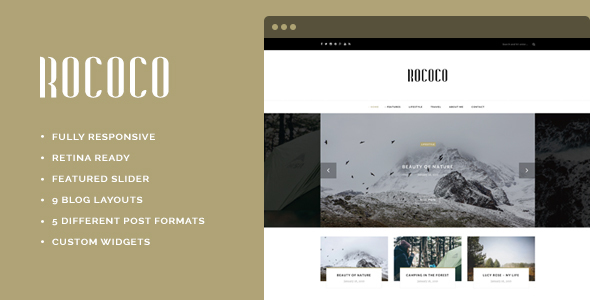 Rococo – WordPress Theme for Bloggers