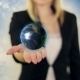 Woman Holding a Globe In Her Hand - VideoHive Item for Sale