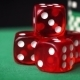 Red Dice, Casino Chips, Cards Rotation On Green Felt - VideoHive Item for Sale