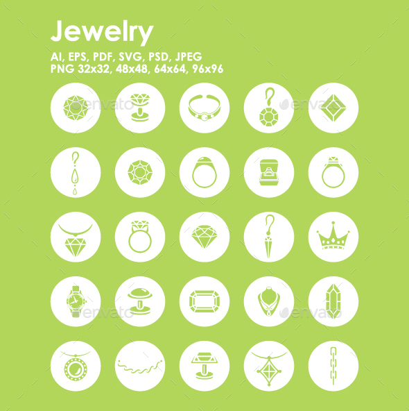 25 Jewelry icons - Objects Icons