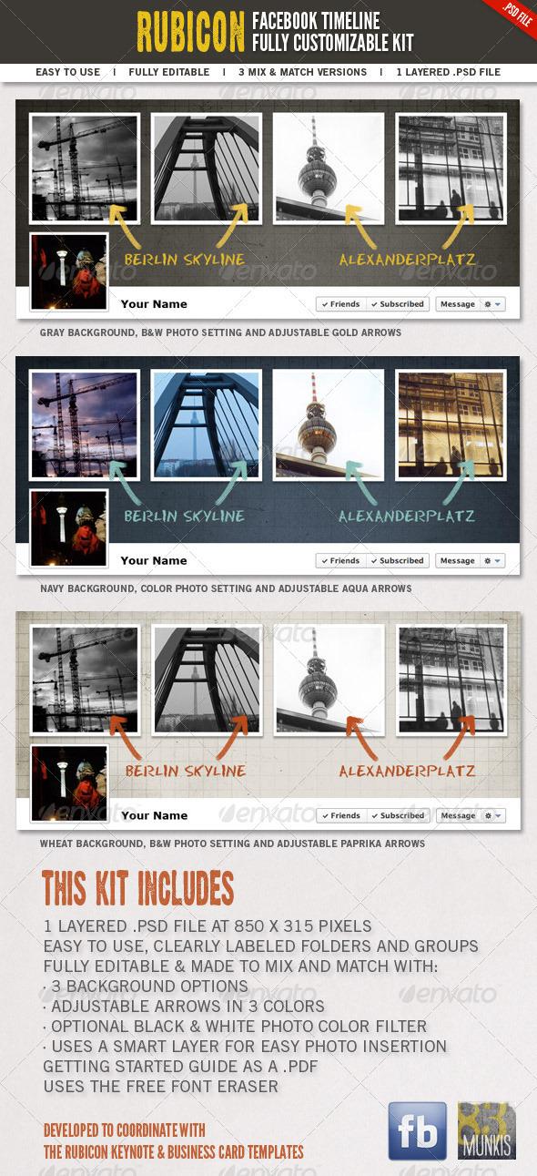 Rubicon Facebook Timeline Kit - Social Media Web Elements