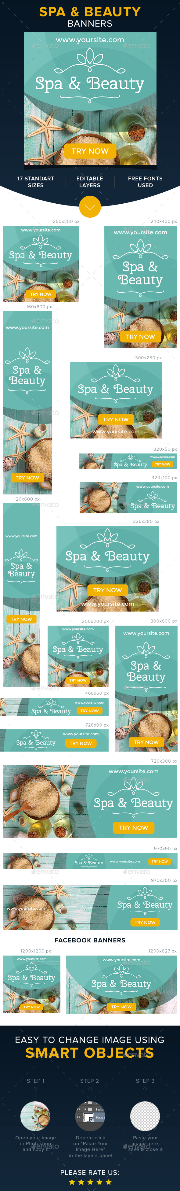 Beauty & Spa banners - Banners & Ads Web Elements