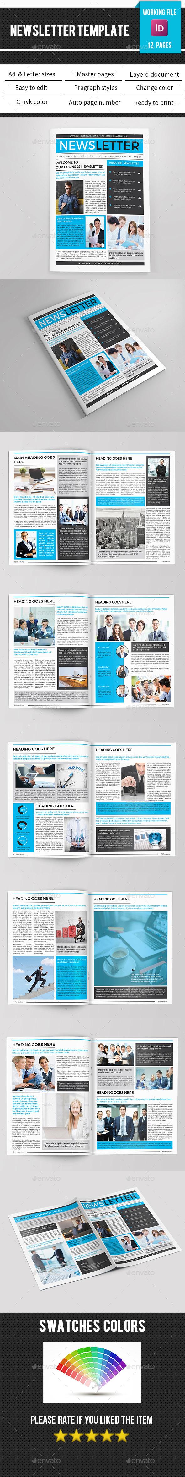 Corporate Newsletter-V10 - Newsletters Print Templates