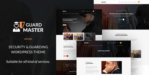 Guard Master - Security WordPress Theme
