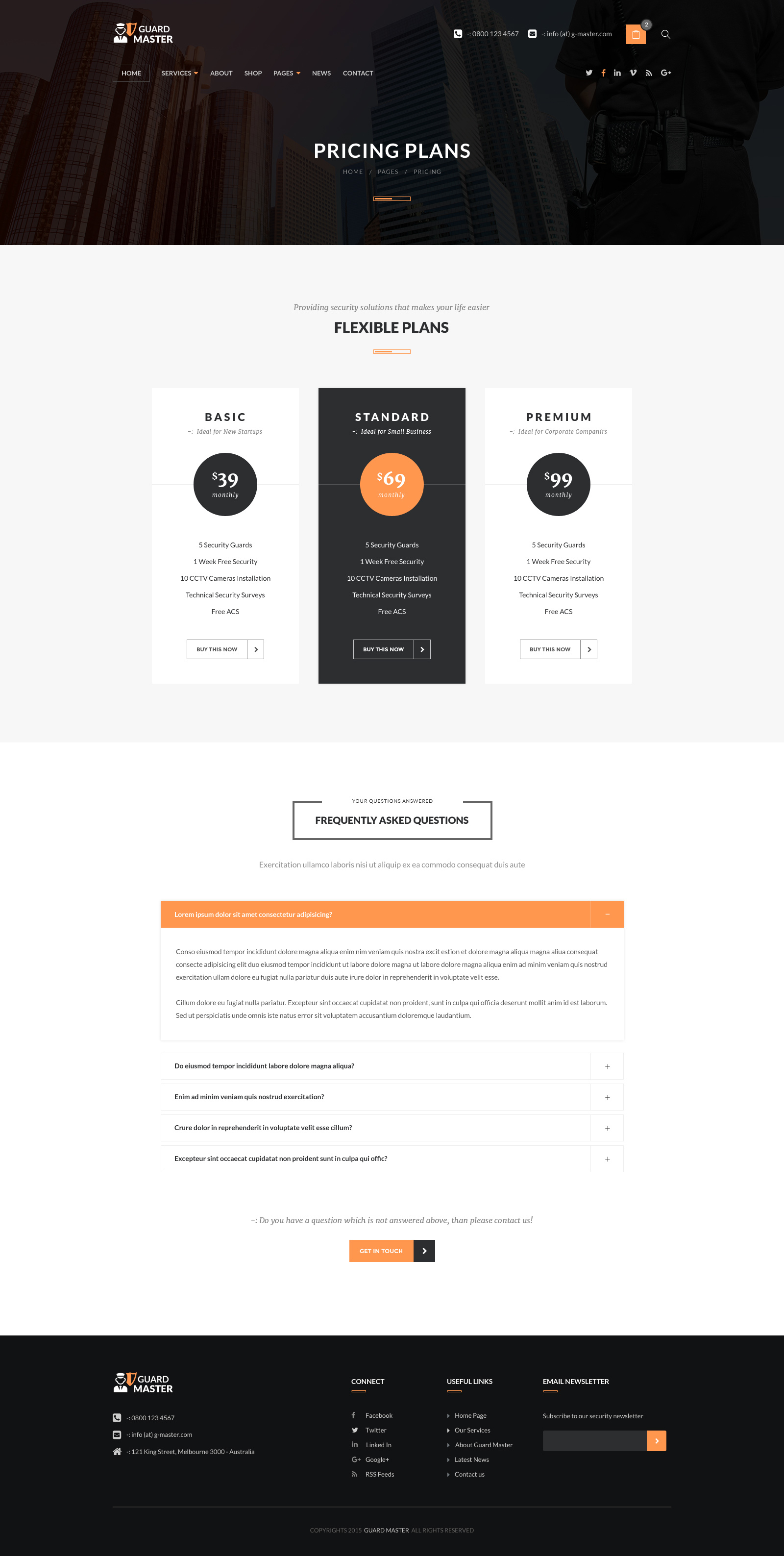 Guard Master - Security WordPress Theme by Templatation | ThemeForest