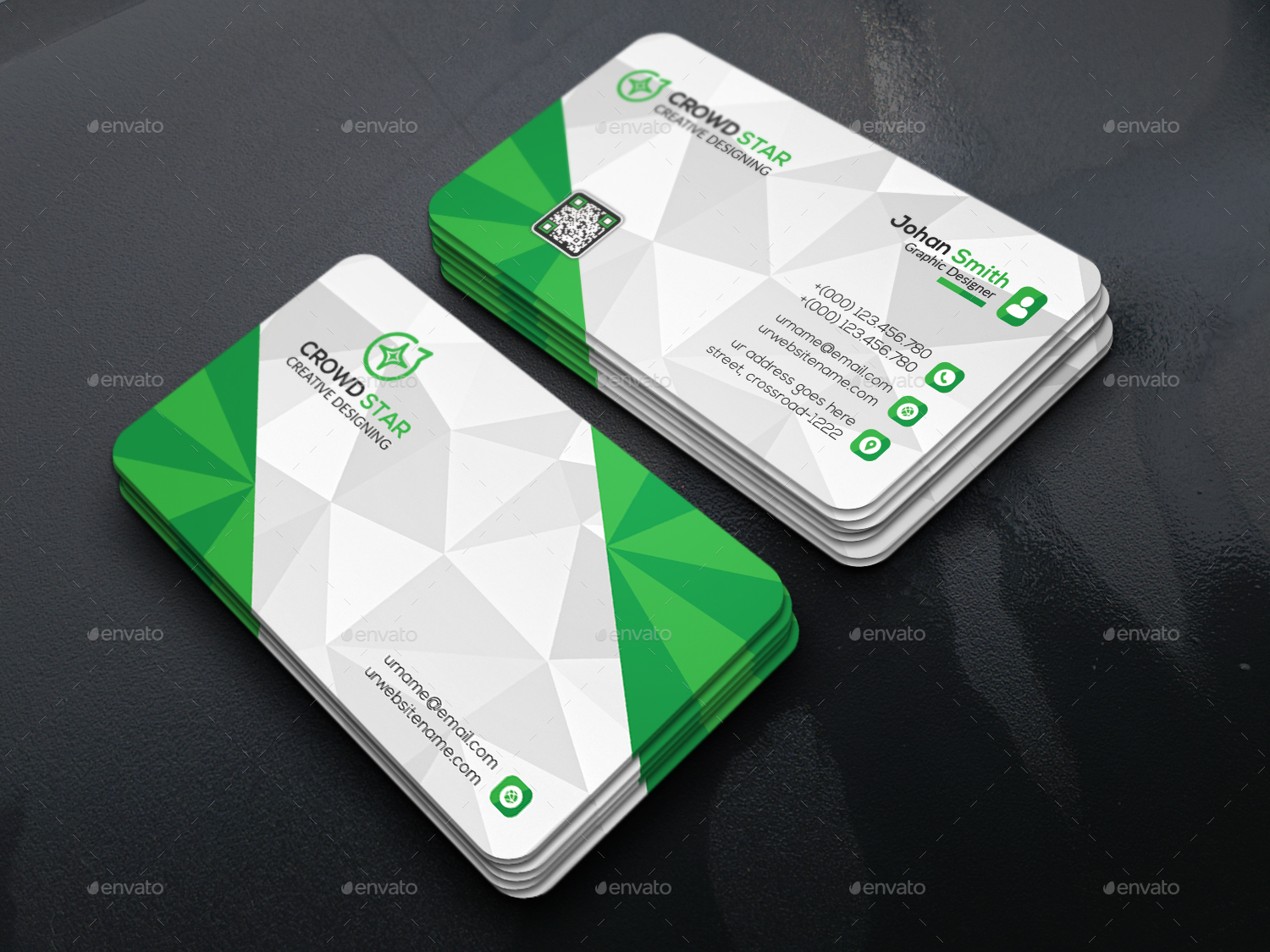 Corporate 3d business card by naimhossain graphicriver for 3d business card