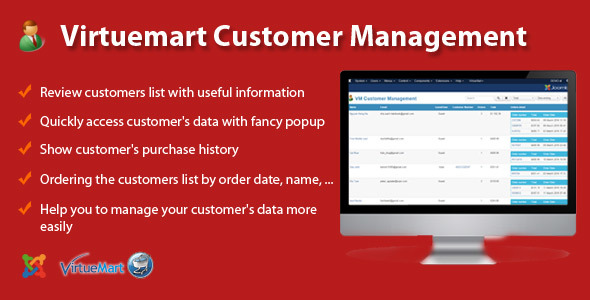 Virtuemart Customer Management - CodeCanyon Item for Sale