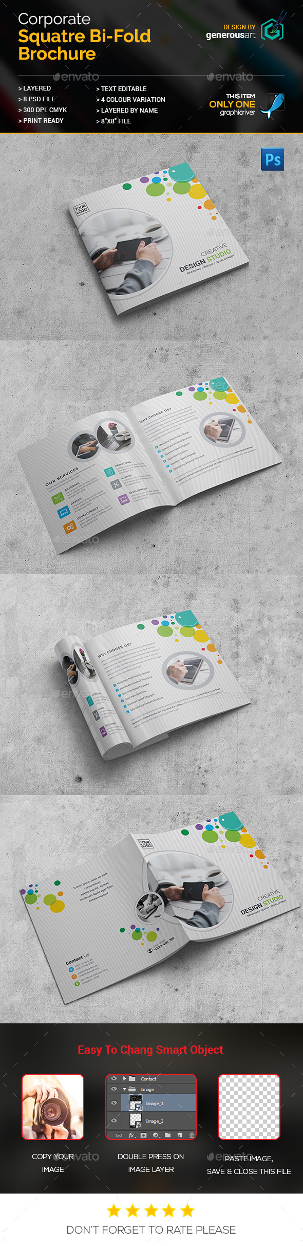 Square Bi-Fold Design - Corporate Brochures