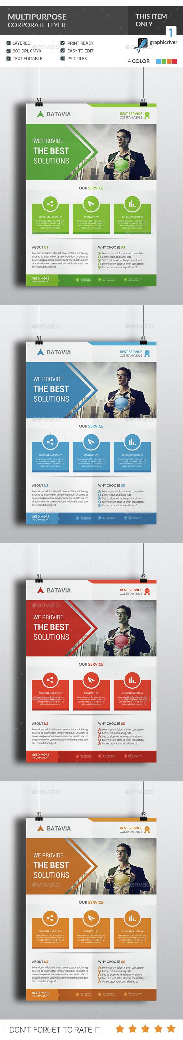 Multipurpose Corporate Flyer - Corporate Flyers