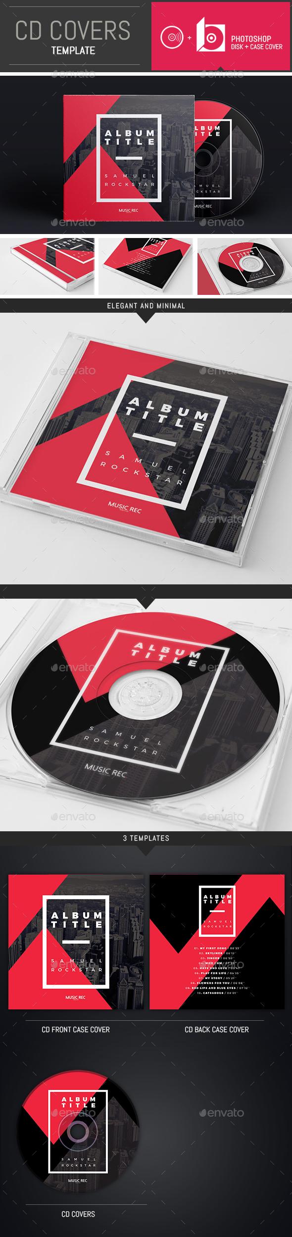 DJ / Musician Abstract CD Cover Template - CD & DVD Artwork Print Templates