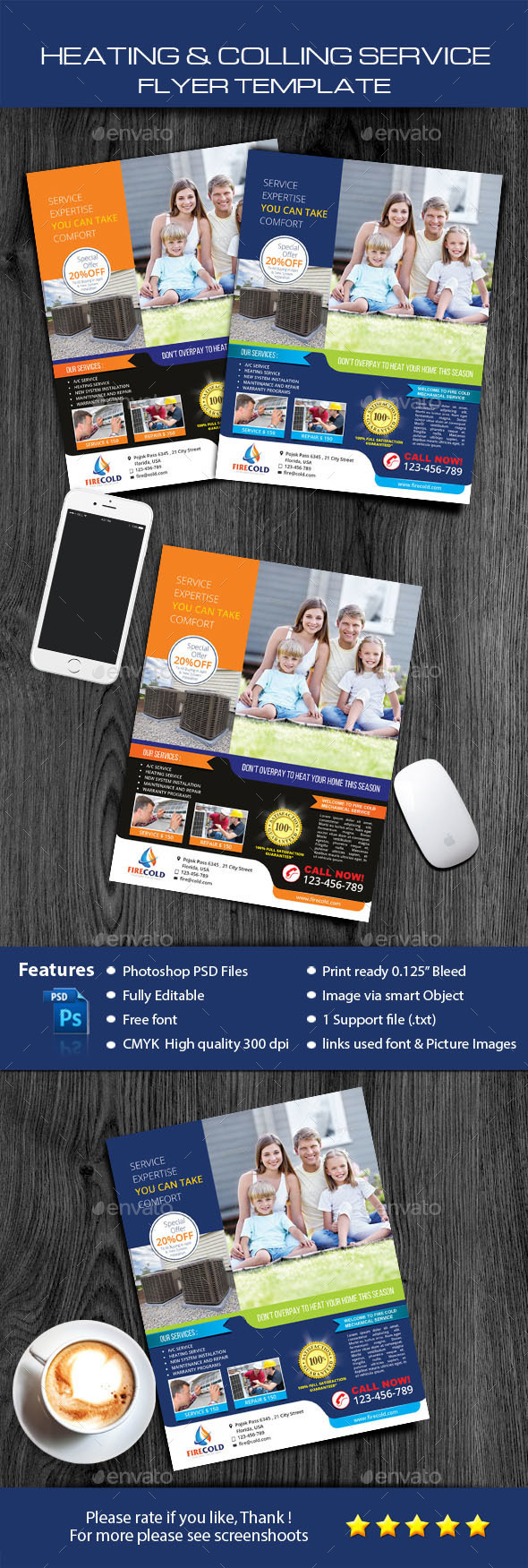Heating and Cooling service solution - Commerce Flyers
