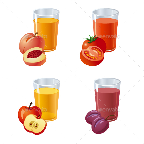 Fresh Juices - Food Objects