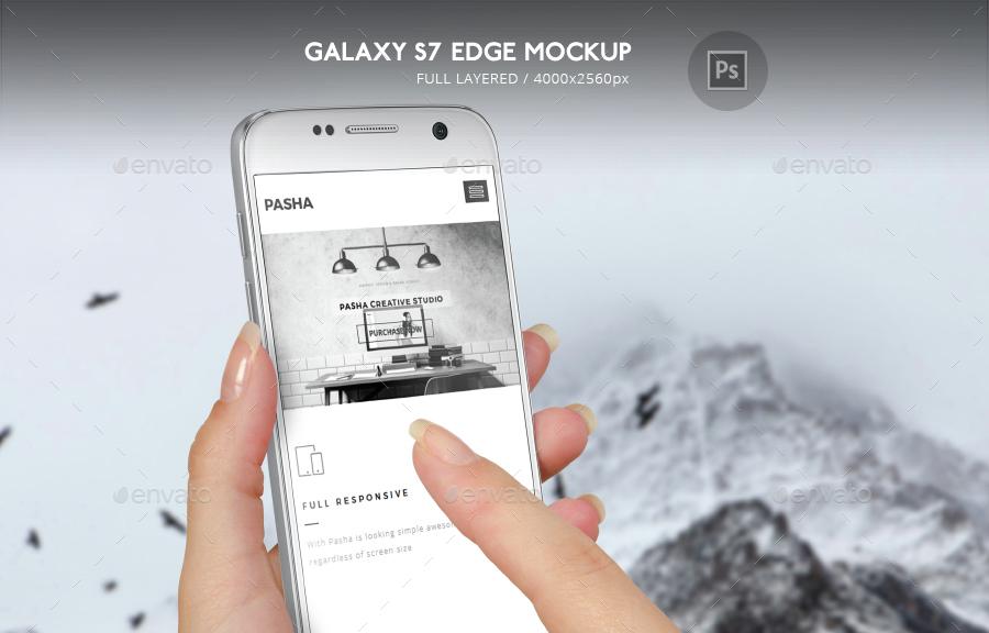 Galaxy S7 Edge Mockup