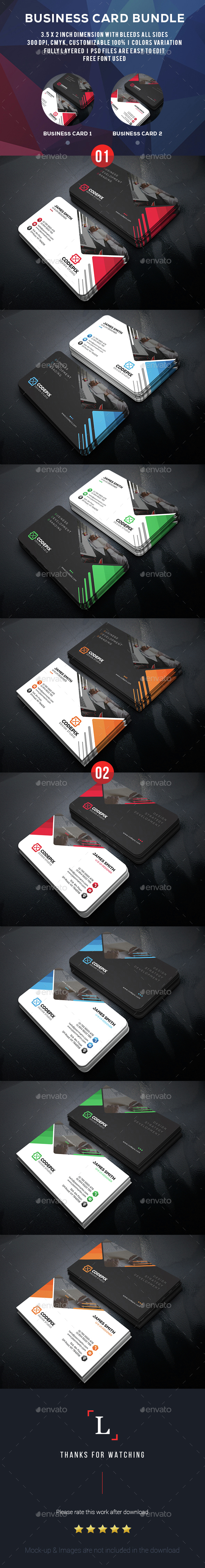 Development Busines Card 2in_1 - Business Cards Print Templates