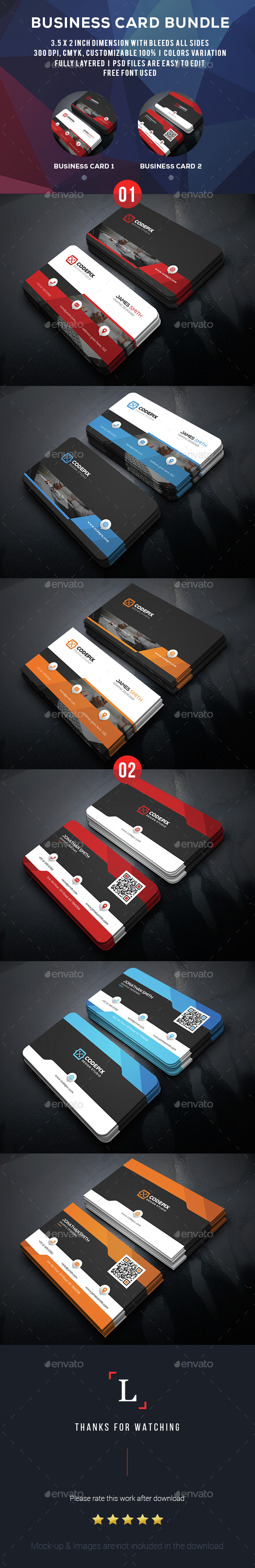 Creative Business Card Bundle - Business Cards Print Templates