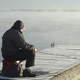 Fog Over The Water And Fisherman On The Bridge - VideoHive Item for Sale