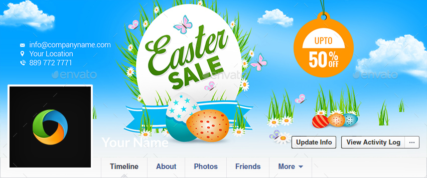 Easter Sale Facebook Covers - 3 Designs - Imagese Included