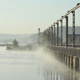 Fog Over The Water And A Bridge - VideoHive Item for Sale