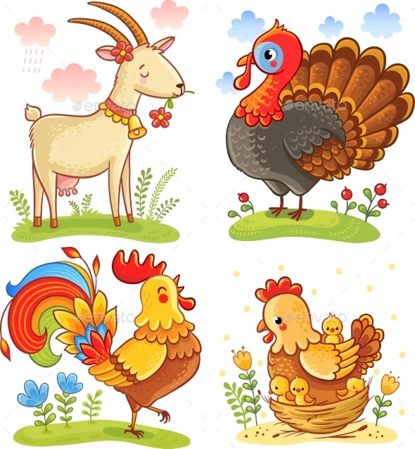 Farm Animal Collection Set - Animals Characters