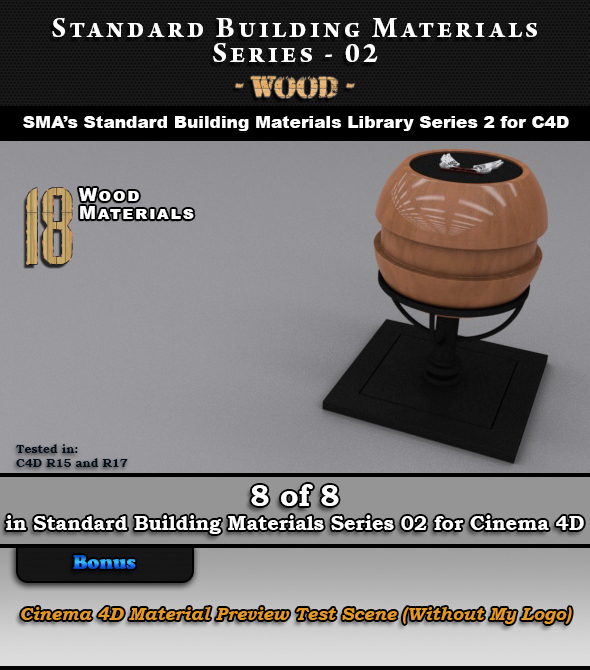 Standard Building Materials S02 - Wood for Cinema 4D - 3DOcean Item for Sale