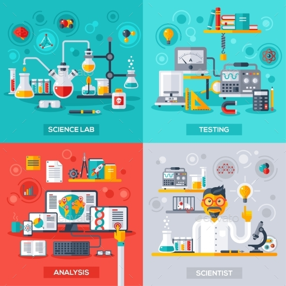 Science Lab, Testing, Analysis, Scientist - Miscellaneous Conceptual