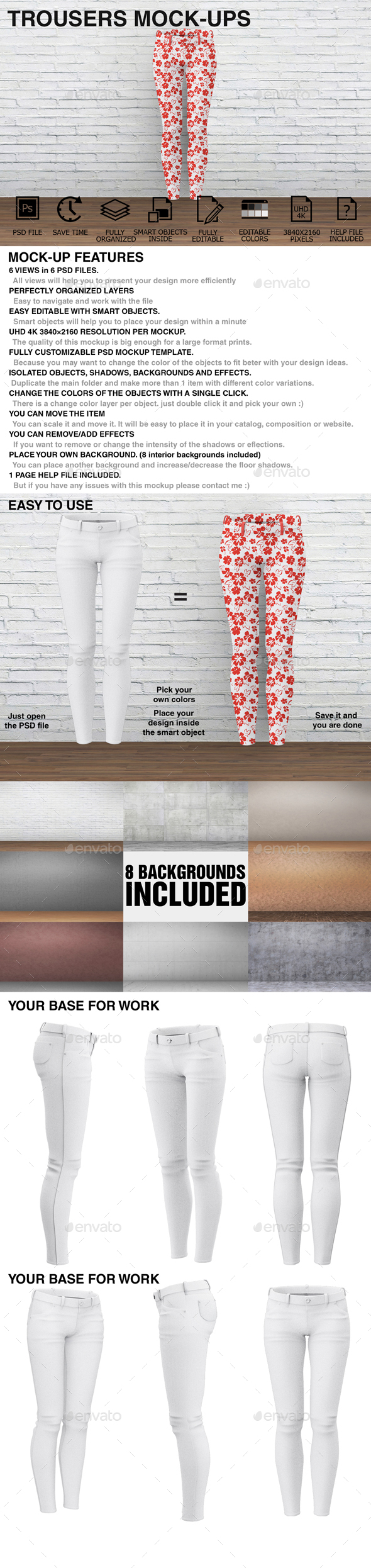 Trousers Mockups - Woman Clothing Mockups - Miscellaneous Apparel