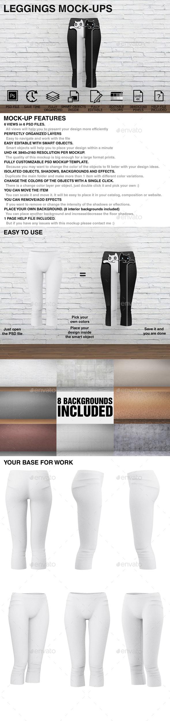 Leggings Mockups - Women Clothing  - Miscellaneous Apparel