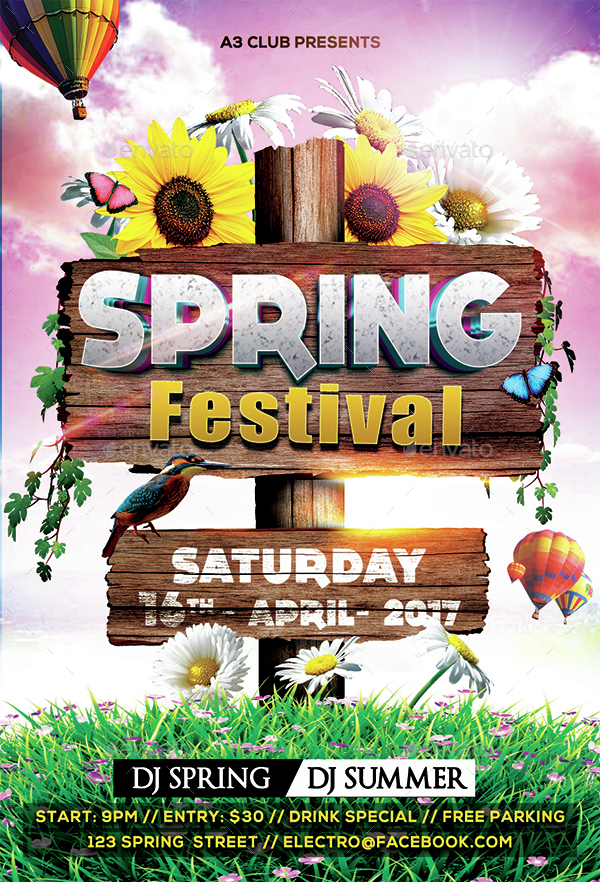 Spring Festival Party Flyer By Arrow3000 | Graphicriver