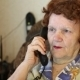 Elderly Woman Talking On The Phone - VideoHive Item for Sale