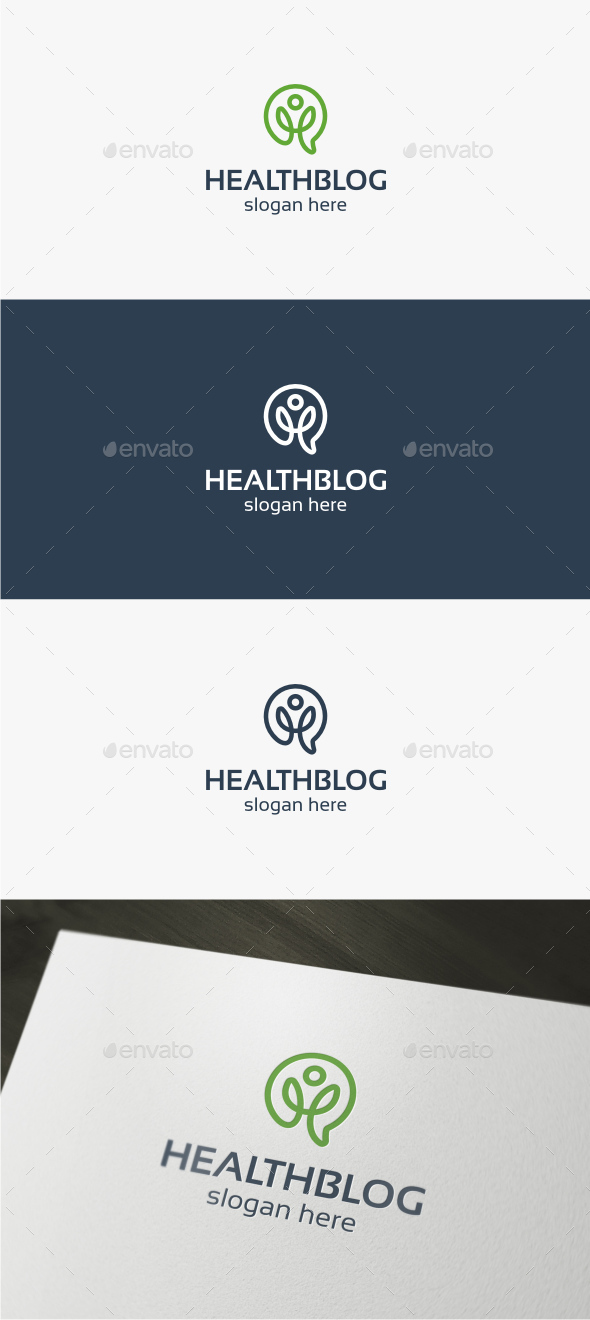 Health Blog Logo - Symbols Logo Templates