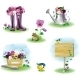 Garden Objects Set - GraphicRiver Item for Sale