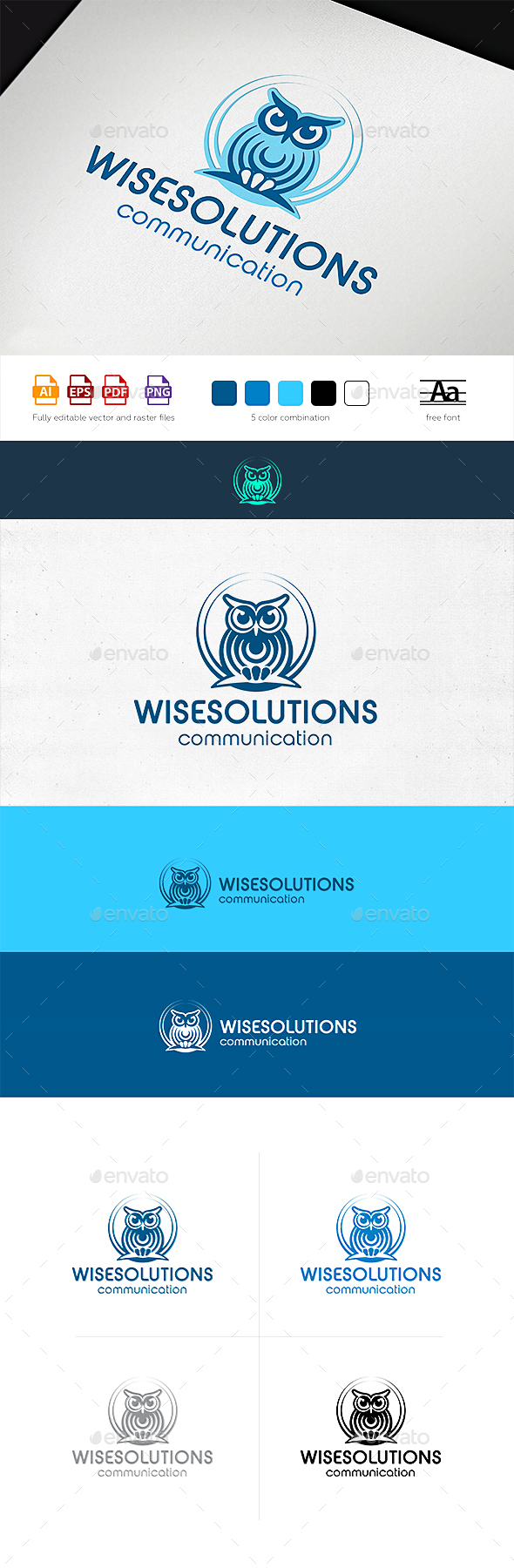 WiseSolutions Communication Logo Template - Animals Logo Templates