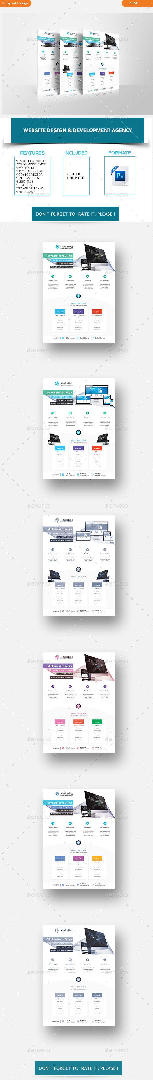 Website Design & Development Agency Flyers - Corporate Flyers