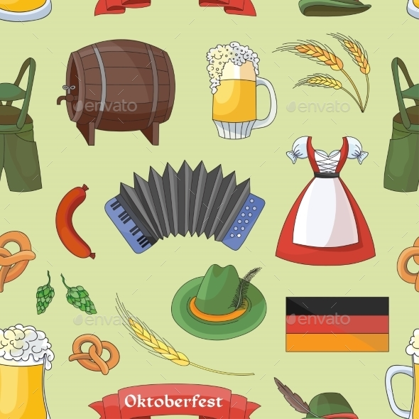 Oktoberfest Pattern Germany Elements - Miscellaneous Seasons/Holidays