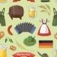 Oktoberfest Pattern Germany Elements - GraphicRiver Item for Sale