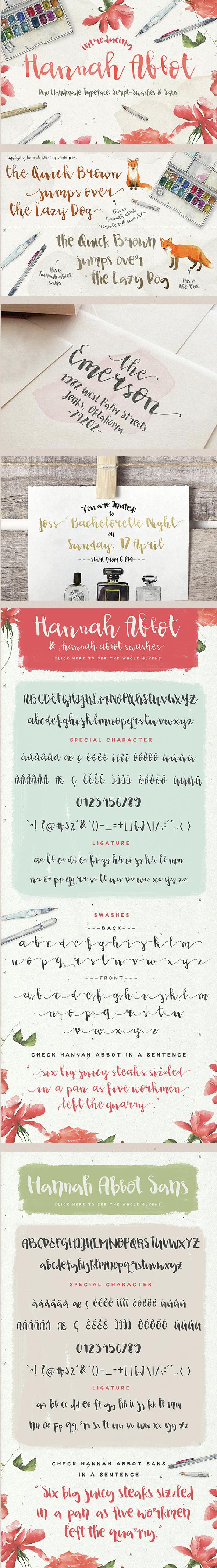 Hannah Abbot - Script Fonts