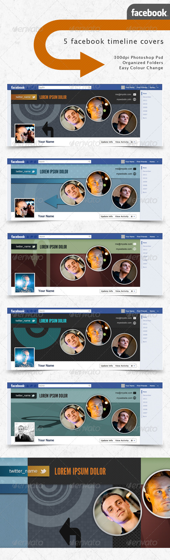 Facebook Timeline Covers - Photo Circles - Facebook Timeline Covers Social Media