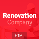 Renovation Company - Construction and Building HTML5 Template - ThemeForest Item for Sale