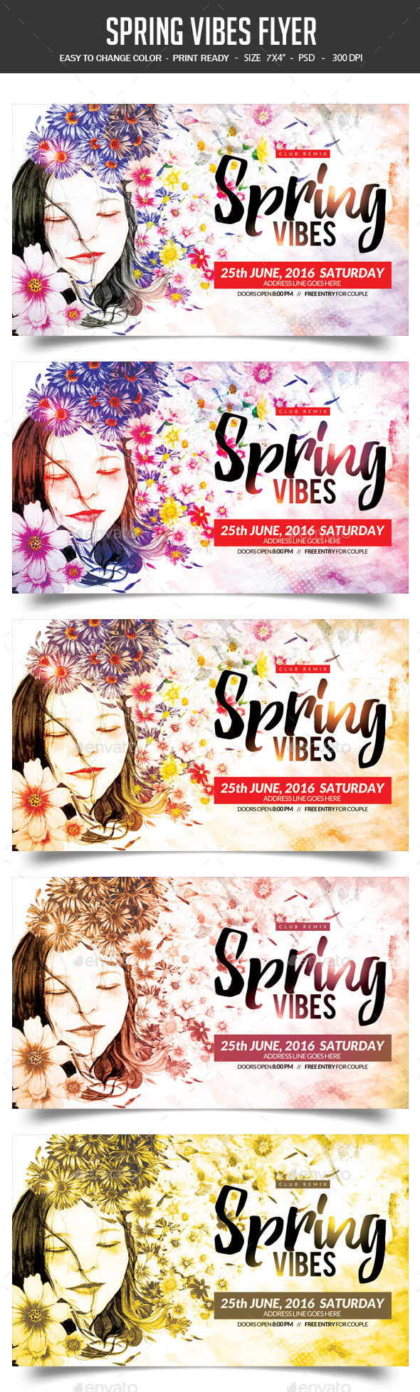 Spring Vibes Flyer - Clubs & Parties Events