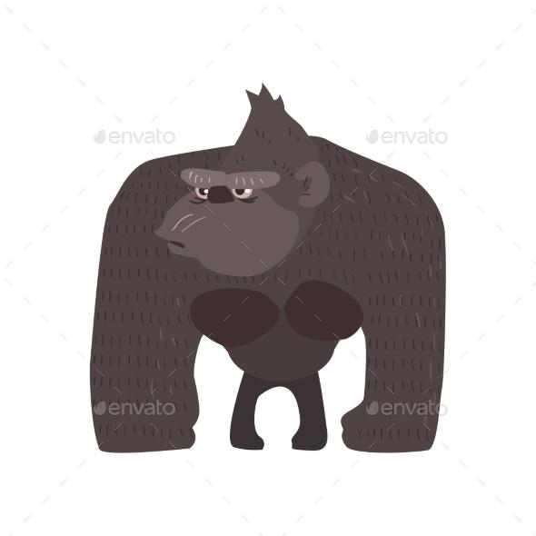 Gaorilla Flat Cartoon Stylized - Animals Characters
