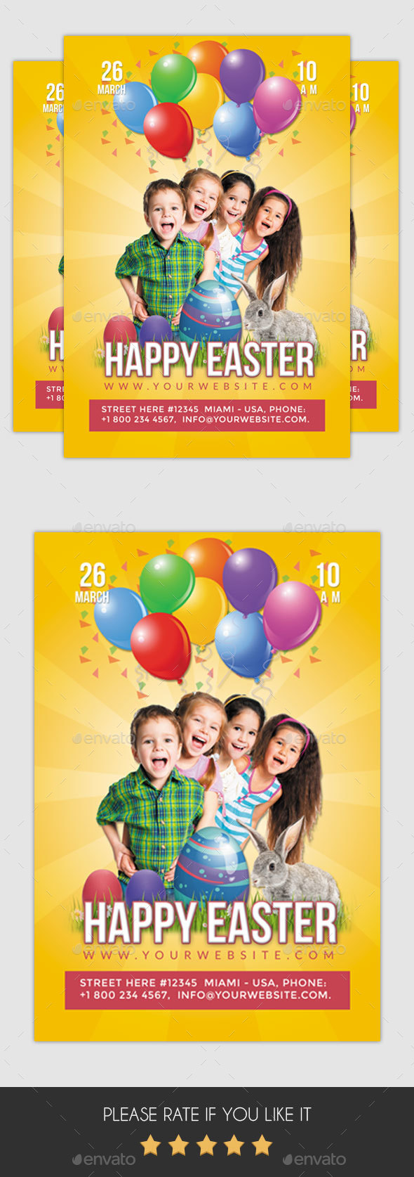 Happy Easter - 1 Flyer - Clubs & Parties Events