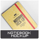 Notebook Mock-Up - GraphicRiver Item for Sale