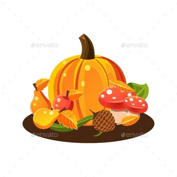 Autumn Harvest Still Life  - Food Objects