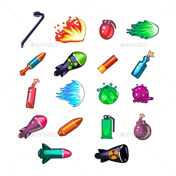 Video Game Weapon Collection - Miscellaneous Vectors