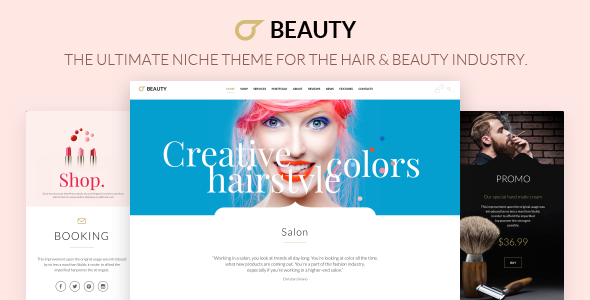 Beauty Hair Salon - Theme for Hair Salon , Barber Shop and Beauty Salon - Health & Beauty Retail