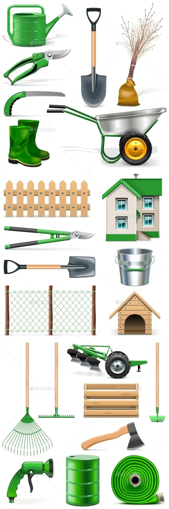 Garden Icons Set - Industries Business