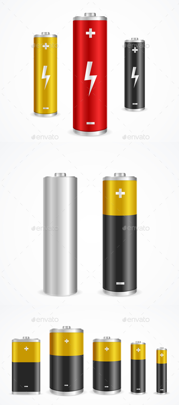 Battery Set - Miscellaneous Vectors