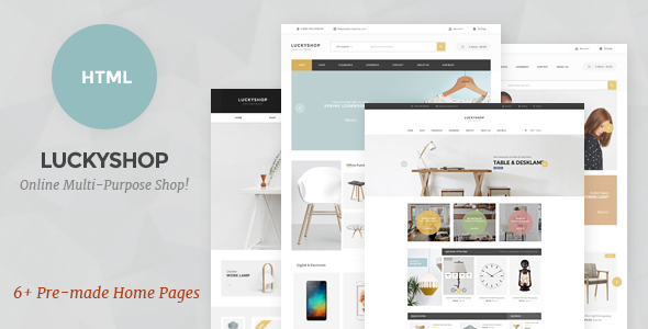LuckyShop - Multi-Purpose HTML Template