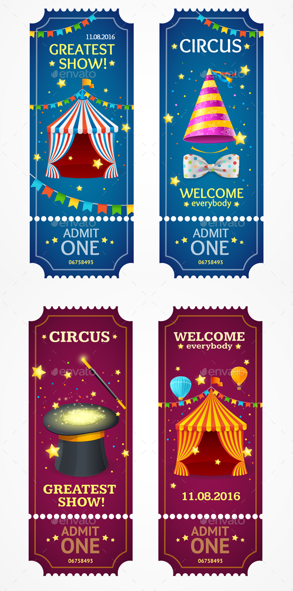 Circus Tickets Set - Industries Business