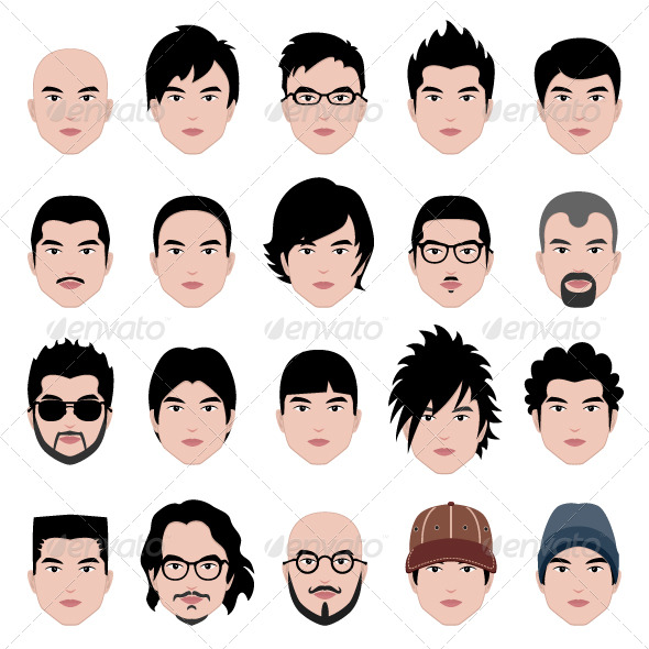 Male Man Hair Hairstyle - People Characters